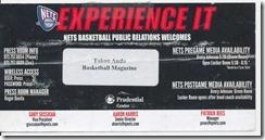 ネッツプレス席カード