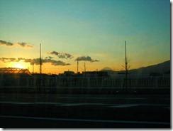 11海老名の帰り夕日